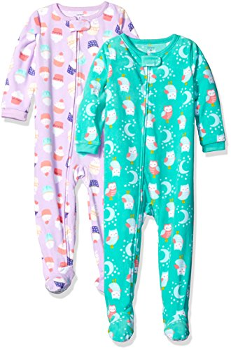 carters-toddler-girls-2-pack-fleece-pajama-set-cupcakes-owl-3t