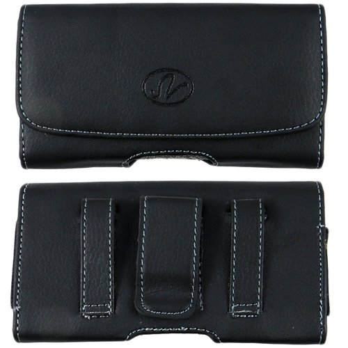 Horizontal Leather Belt Clip Case Pouch Cover For Samsung GALAXY Music S6010 / Eternity SGH-A867 - A867 Case