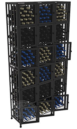 VintageView Case & Crate Metal Wine Rack Locker - Full Height - Capacity 288 Bottles by VintageView