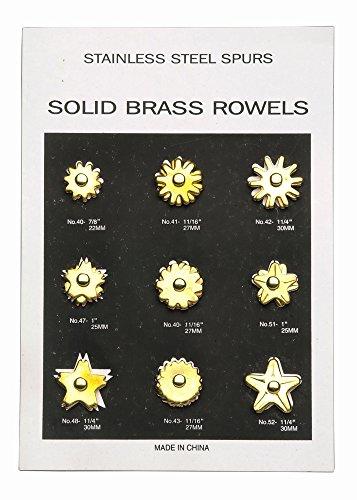 The Colorado Saddlery Rowel Card, Brass