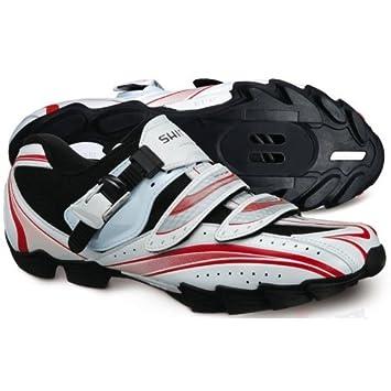 Shimano - Zapatillas MTB SH-M087 Blanco Rojo - Talla 41: Amazon.es: Deportes y aire libre