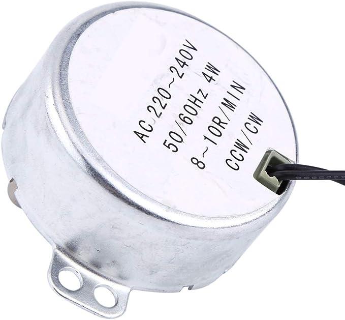 Motor síncrono CW//CCW de velocidad AC12V 5-6RPM Ventilador Calefactor Motor de engranajes 4KGF.CM