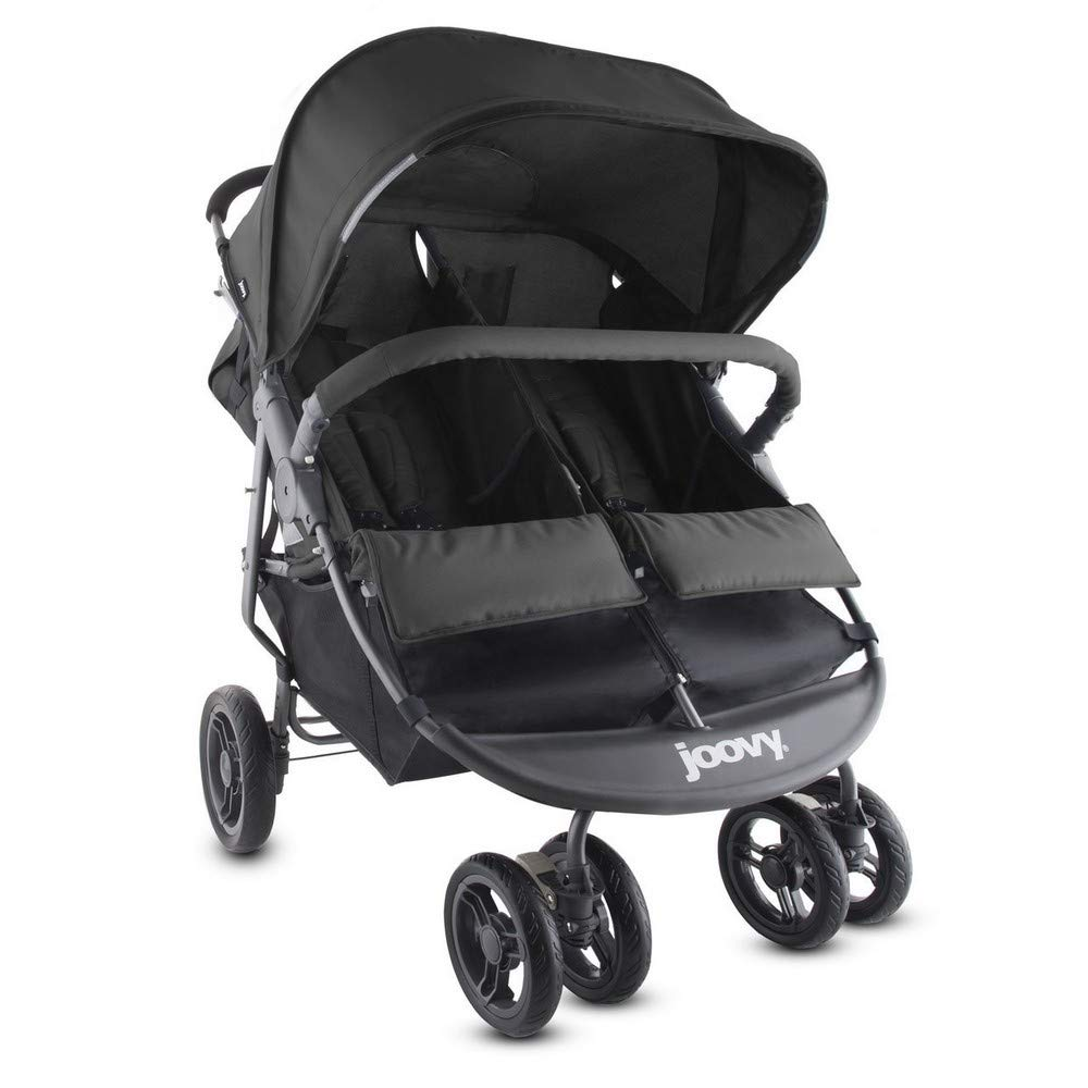 JOOVY Scooter x2 Double Pushchair, Black