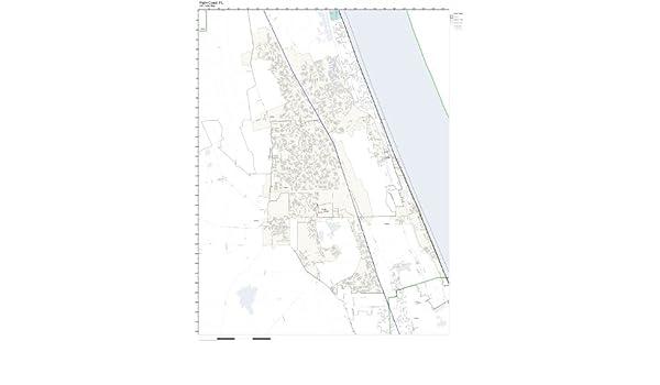Palm Coast Fl Zip Code Map.Amazon Com Zip Code Wall Map Of Palm Coast Fl Zip Code Map Not