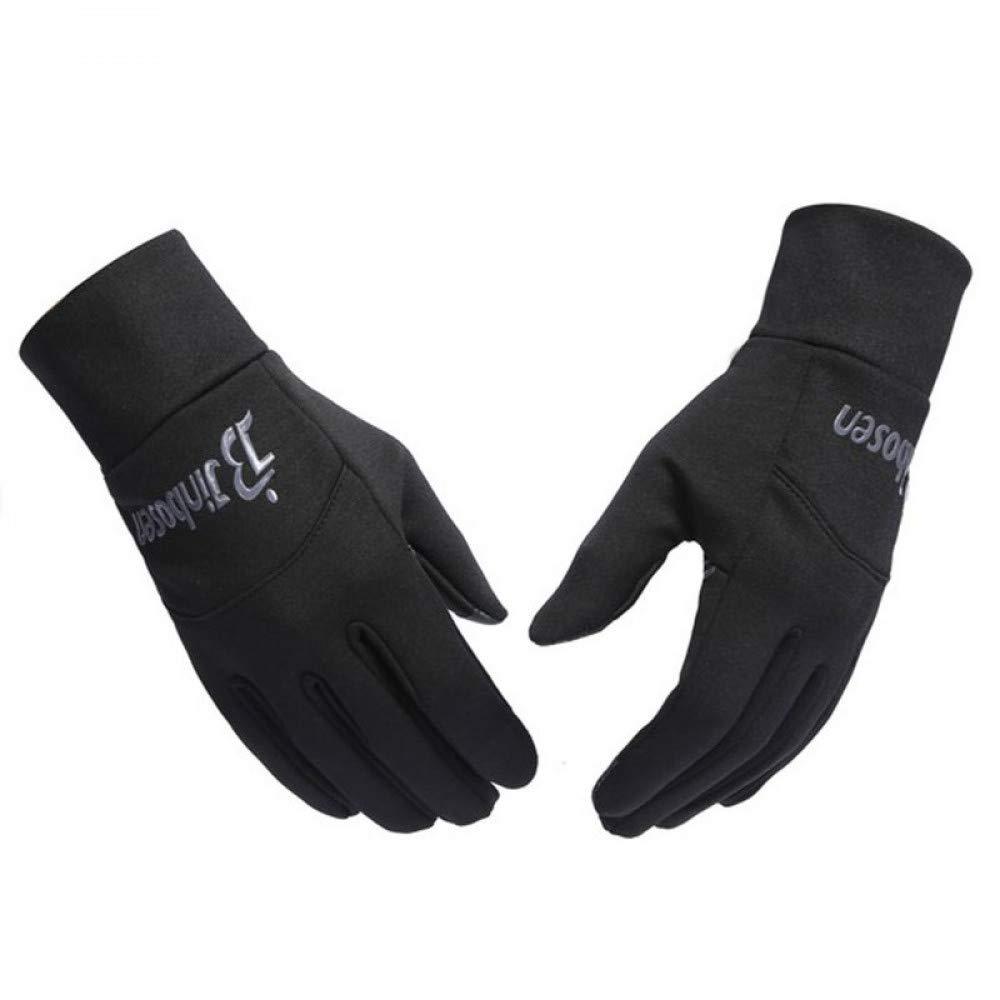 GLOVESCOA Outdoors Winddicht Laufhandschuhe Radfahren Fußball Gym Gym Fußball Training Handschuhe Touchscreen Vlies Reithandschuhe a4a2fc