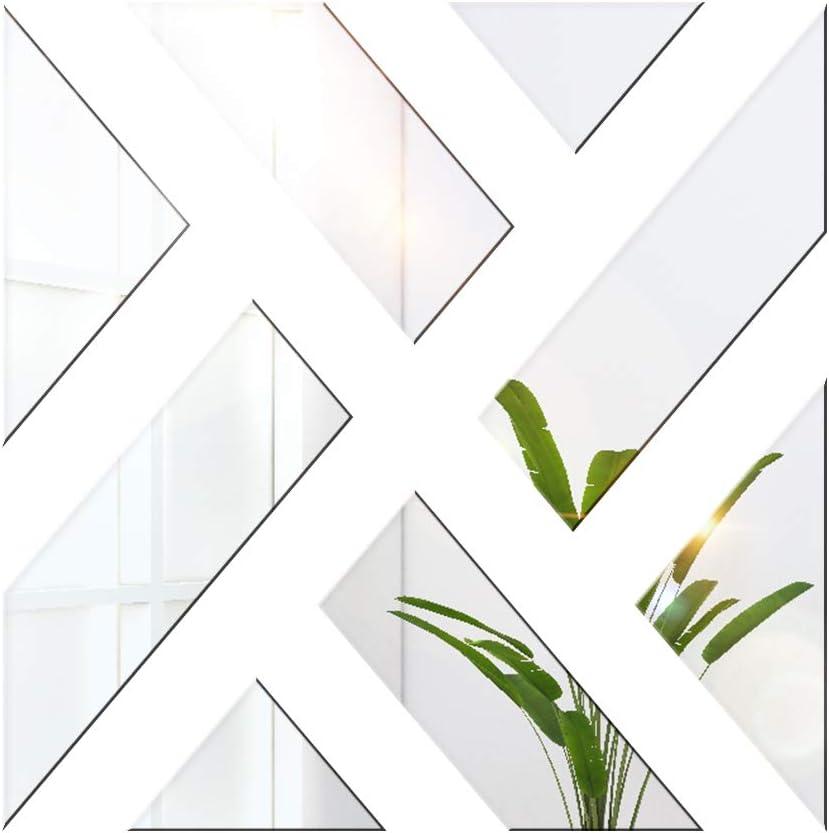 20 x 20 cm salon d/écoration dint/érieur Lot de 4 miroirs muraux hexagonaux en acrylique 3D Pour chambre /à coucher Autocollants amovibles