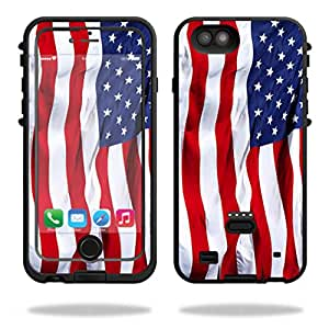 MightySkins Protective Vinyl Skin Decal for LifeProof FRE Power iPhone 6/6S Case wrap cover sticker skins American Flag