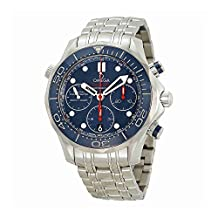 Omega Seamaster Diver Chronograph Blue Dial Steel Mens Watch 21230425003001