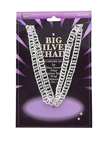 [Forum Novelties Men's Novelty Big Silver Chain, One Size] (Silver Costumes Accessory)