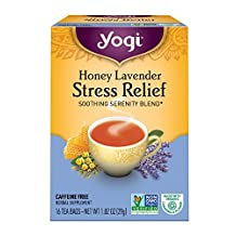 YOGI TEAS Tea Honey Lavender Stress Relief Tea, 16 ct