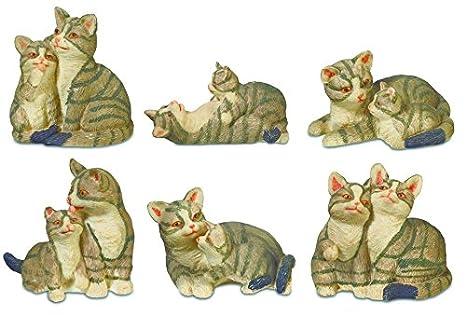 Katerina Prestige - Figura - Caja de Seis Gatos con Gato, na0825: Amazon.es: Juguetes y juegos