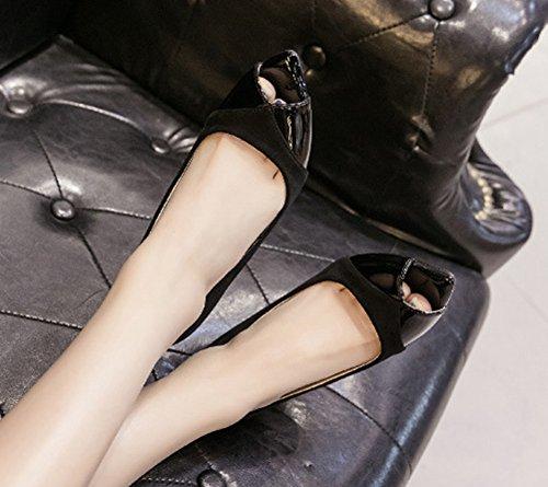 Talons Aiguilles Toe Aisun Sandales Femme Original Noir Peep gWPqxxI8wB
