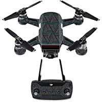 Skin for DJI Spark Mini Drone Combo - Triangle Stripes| MightySkins Protective, Durable, and Unique Vinyl Decal wrap cover | Easy To Apply, Remove, and Change Styles | Made in the USA