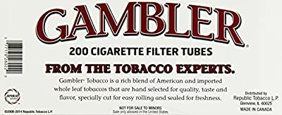 Gambler Regular King Size Cigarette Tubes (5 Boxes)