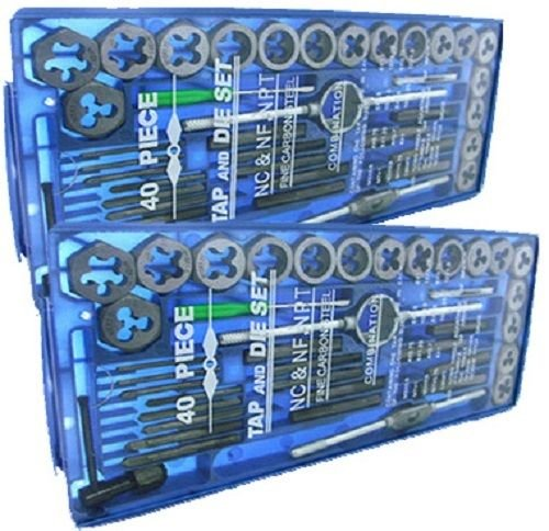 New TAP AND DIE Set 80 piece SAE & METRIC w/Cases Screw Extractor Remover