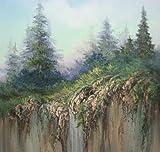 """Serenity"" Mountain Cliff Landscape, original"