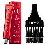 Schwarzkopf Professional Igora Royal Permanent Hair Color (with Sleek Tint Brush) (8-1 Light Ash Blonde)