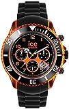 Ice-Watch - ICE Chrono electrik BK Orange - Montre noire pour homme avec bracelet en silicone - 013711 (Extra Large)