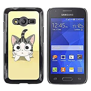 Paccase / SLIM PC / Aliminium Casa Carcasa Funda Case Cover - Cute Japanese Anime Cat - Samsung Galaxy Ace 4 G313 SM-G313F