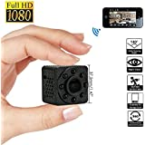 Leegoal Mini WiFi Camera, Full HD 1080P Wireless Nanny Camera Ip Security Camera Portable DVR with Two-Way Intercom Night Vision&Motion Detection Alarm Remote View for iOS/Android APP