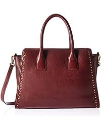 Audrey Medium Studded Leather Satchel with Top Zip