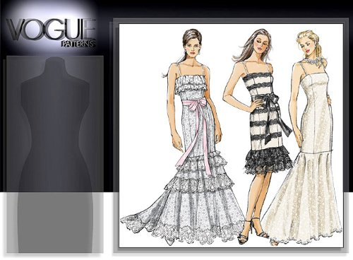 VOGUE V8389 MISSES / MISSES PETITE DRESSES (3 STYLES) SIZE 6-8-10-12) SEWING PATTERN (Vogue Prom Dress Patterns)
