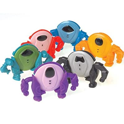 Dozen Assorted Color Robot Disc Shooters - 2.5""