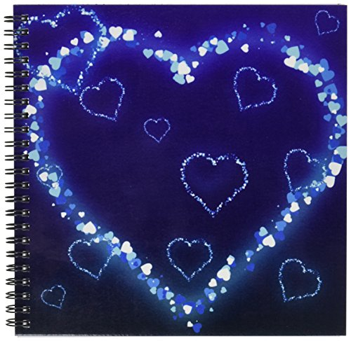 (8x8 drawing book) - Dooni Designs Valentines Day and Love Designs - Blue Electric Hearts Love Design - Drawing Book