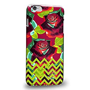 """Case88 Premium Designs Floral Chevron TREND MIX 0767 Protective Snap-on Hard Back Case Cover for Apple iPhone 6 Plus 5.5"""""""