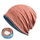 Beanies Hip-Hop Collar Scarf Hats For Unisex Skullies Baggy Cap Rose With Blue