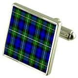 Tartan Clan Campbell Sterling Silver Cufflinks