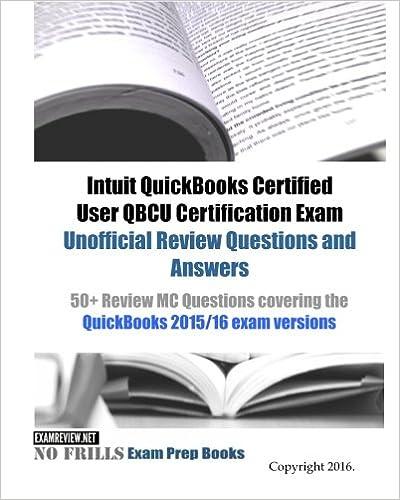 Intuit QuickBooks Certified User QBCU Certification Exam Unofficial ...