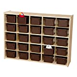 Sprogs 25-Tray Wooden Storage Unit - Unassembled With Chocolate Trays, SPG-71142