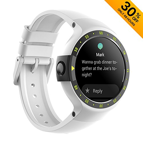 Ticwatch S Smartwatch-Glacier 1.4 Inch OLED Display Android Wear 2.0 Deal (Large Image)