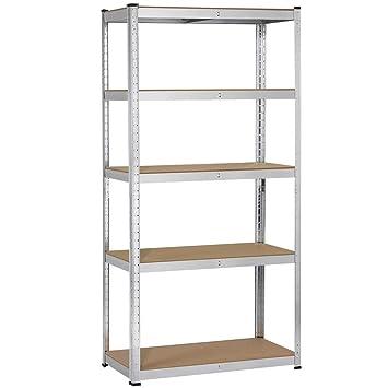 Amazon.com: Yaheetech - Estantería de 5 estantes de acero ...