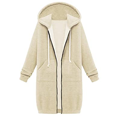 2fe4af6aa8d Your Gallery Women s Casual Long Hoodies Sweatshirt Coat Pockets Zip ...