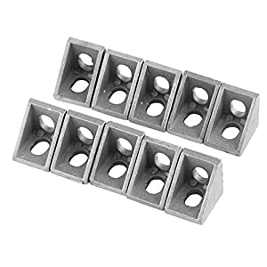 10 Pcs 2020 Aluminum Corner Bracket,20mmx 20mm x 17mm L Shape Right Angle Joint Bracket Fastener Home Hardware for 20mm Aluminum Extrusion from Walfront