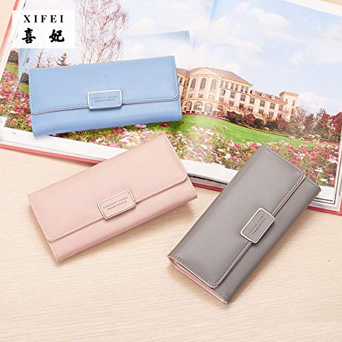 MiAnMiAn Pu Leather Wallet Women Zipper Pocket Card Case Purse Contracted Seventy Percent Off Packs