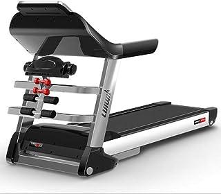ZMJY Tapis Roulant Pliant pour la Maison, Fitness Multifonctionnel Ajustable avec Machine de Course réglable avec Inclinaison sur 15 Niveaux - Cardiofréquencemètre,