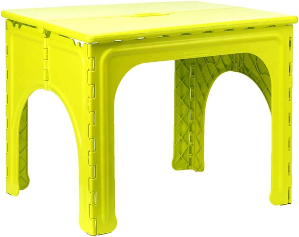 XIA Mesa Plegable de plástico para niños Kindergarten portátil 3 Colores 62 * 49 * 49cm (Color : Green, Tamaño : 1 table): Amazon.es: Hogar