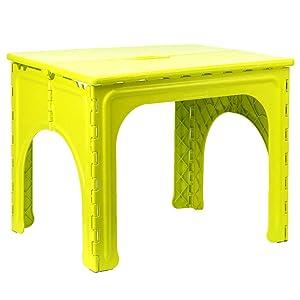 Xia Child Fold Table Plastic Kindergarten Portable 3 Colors 62 * 49 * 49cm (Colore : Green, Dimensioni : 1 table)