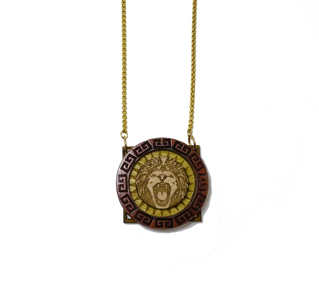GoodWood NYC Micro Meandering Lion Necklace