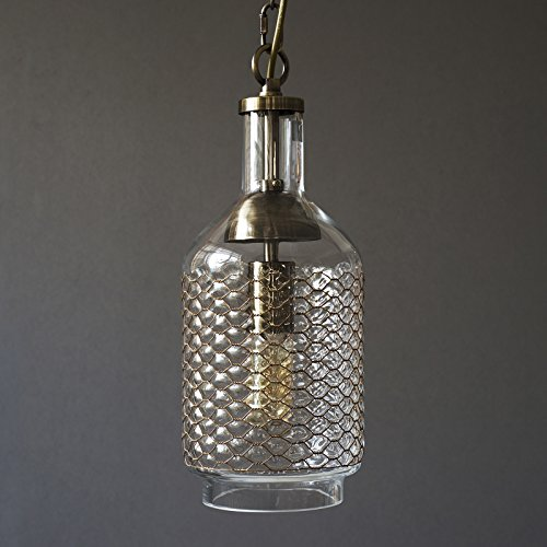 Glass Pendant Light With Chain - 7