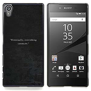 /Skull Market/ - Leather Grey Velvet For Sony Xperia Z5 5.2 Inch Smartphone - Mano cubierta de la caja pintada de encargo de lujo -