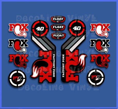 PEGATINAS FOX FLOAT 40 2015 HERITAGE DP1089 STICKERS AUFKLEBER DECALS AUTOCOLLANTS ADESIVI
