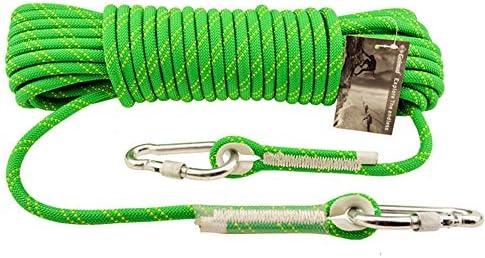 クライミングロープ、アウトドアクライミングロープレスキューエスケープロープラペリングスタティックロープ着用安全ロープ、直径10 mm,10m