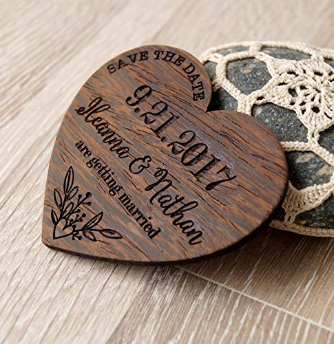 Save the dates, wooden save the date magnets, heart save the dates, rustic save the dates, wedding save the dates, wedding magnets, 25 pc]()