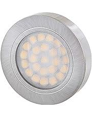 LED Slim Möbel aluminium opbouwspot 12V MINI-AMP - dimbaar - 2W 120lm - Ø60x14mm - geborsteld ijzer - warmwit (3000 K)
