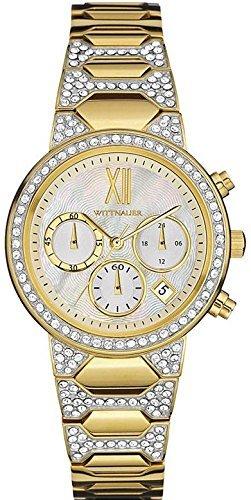 Wittnauer - WN4069 Gold Crystal Chronograph (Wittnauer Wrist Watch Gold)