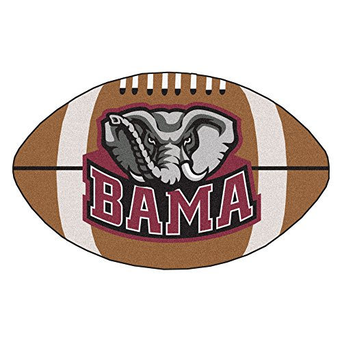 FANMATS NCAA University of Alabama Crimson Tide Nylon Face Football (Alabama Crimson Tide Rug)